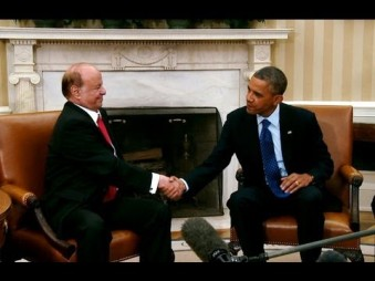 US doing what it does best. Obama with Yemen president Abdrabbuh Mansour Hadi
