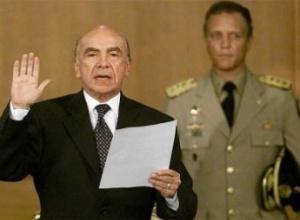Pedro Carmona humbly makes himself president of Venezuela 2002 .