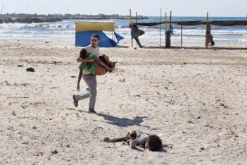 Four boys killed on beach in Gaza.