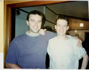 Myself and Gavin 1995, five years before his death.